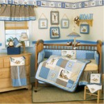 A baby boy's bedroom will begin to change in color and texture as he grows.