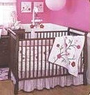 The Perfect Pink Baby Bedding for the Littlest Lady in the Family.  Welcome her home to a safe crib.