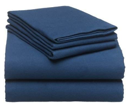 solid blue flannel sheets