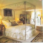 Bed with canopy and dust ruffle