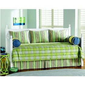 blue and green daybed bedding ensemble includes 5 pieces for a country look