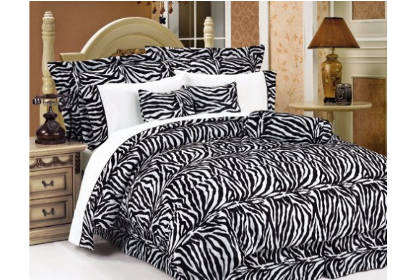 11 piece black and white zebra bedding