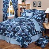 Blue Camouflage Comforter Set