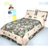 Boys Bedroom Twin Bed Camouflage comforter set