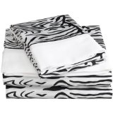zebra twin bed sheets