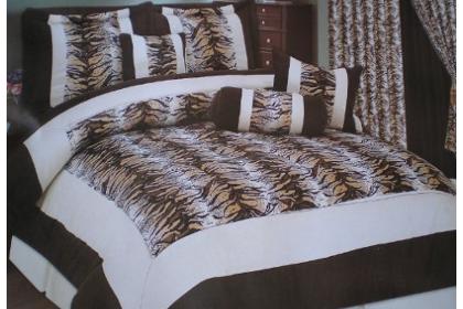 safari zebra print bedding set