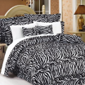 black and white zebra print bedding