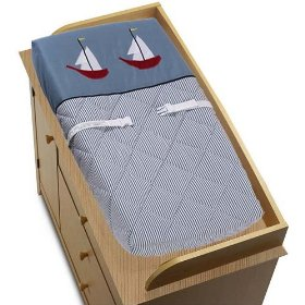 Nautical Crib Bedding Changing Pad Cover