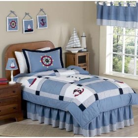 Come Sail Away Nautical Bedding in Twin Size