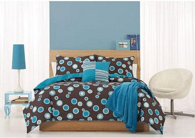 Post image for Turquoise and Brown Comforter and Bedding Set