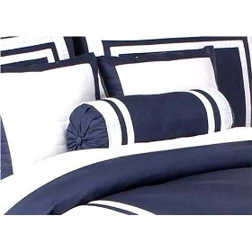 Navy Hotel Bedding Bolster
