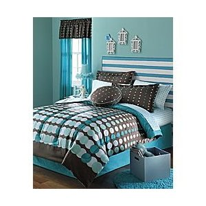 turquoise and brown comforter and bedding set