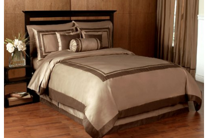 taupe hotel bedding
