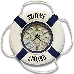 Welcome Aboard Nautical Wall Clock