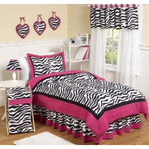 pink and black zebra print bedding for the teen bedding selections