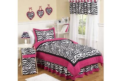 hot pink funky zebra