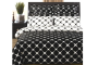 black and white diamond print bedding