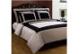 Black and Taupe Hotel Bedding
