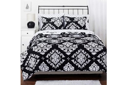 Elegant black damask