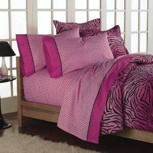 Bedding Sets Queen Pink Zebra Print