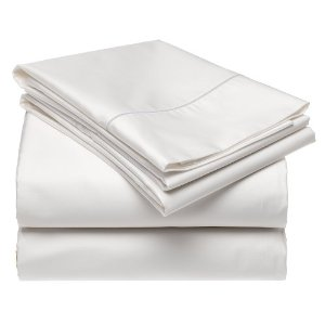 White sheets 100 cotton 600 tc queen king cal king