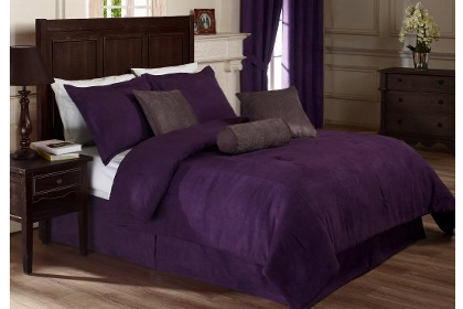 Purple Microsuede Bedding