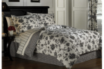 Black and White Toile Bedding Set