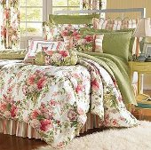 Perhaps There Is No Better Place To Begin A Discussion Of Pink And Green Floral Bedding Than With Our Selection Named Claires Garden