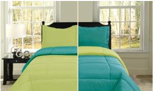 lime green comforter reversible