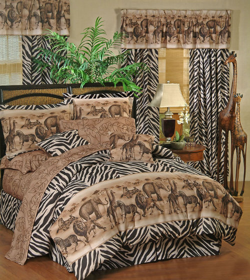 Related to twin size blue zebra print bed in a bag set animal print
