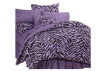 Purple and Black Zebra Print Bedding
