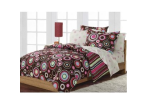 pink and brown polka dot bedding selections
