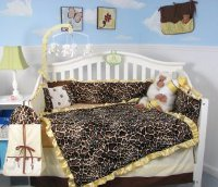 Soho Golden Giraffe Minky Baby Crib Nursery Bedding Set 13 Pcs
