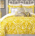 yellow comforter