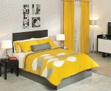 yellow with gray bedding