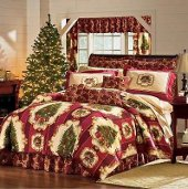 Christmas bedding full of Holiday Trees