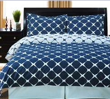 basic blue and white bedding