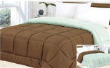 reversible blue and brown bedding comforter
