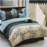 pasadena blue and brown bedding