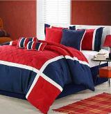 red white and blue nautical bedding