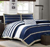 blue and white nautical bedding