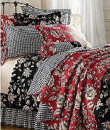 red and black bedding french country