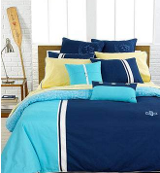 blue on blue nautical bedding ensemble
