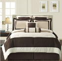 hotel style brown bedding