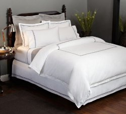 Hotel Bedding in Silver and Grey
