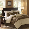 casual brown bedding for fall
