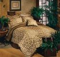 brown bedding in giraffe print