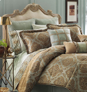 croscill laviano blue and brown bedding