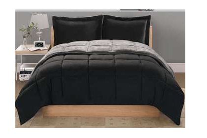 Basic black bedding