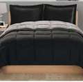 Basic black comforter set